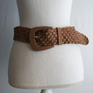 Michael Kors womens brown weaved braided belt